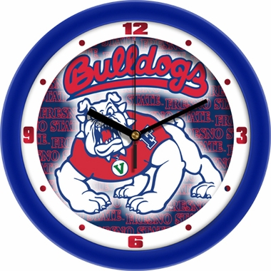 Fresno State Dimension Wall Clock
