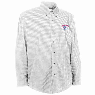 Fresno State Mens Esteem Check Pattern Button Down Dress Shirt (Color: White)