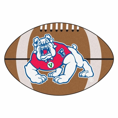 Fresno State Football Shaped Rug
