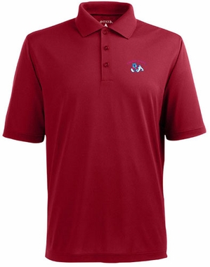 Fresno State Mens Pique Xtra Lite Polo Shirt (Color: Red)