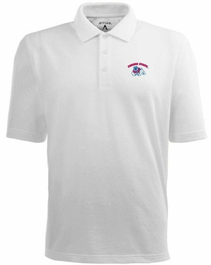 Fresno State Mens Pique Xtra Lite Polo Shirt (Color: White)