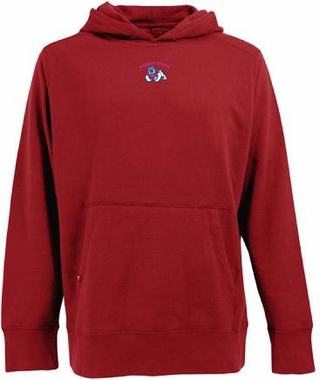 Fresno State Mens Signature Hooded Sweatshirt (Color: Red)