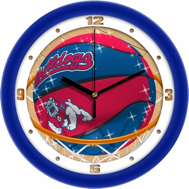 Fresno State Slam Dunk Wall Clock