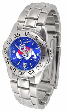 Fresno State Sport Anonized Women's Steel Band Watch