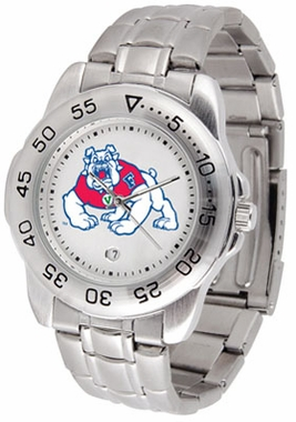 Fresno State Sport Men's Steel Band Watch