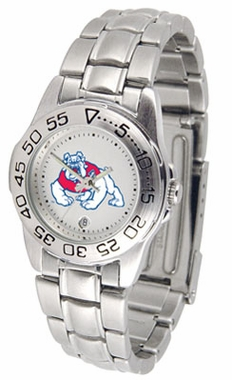 Fresno State Sport Women's Steel Band Watch