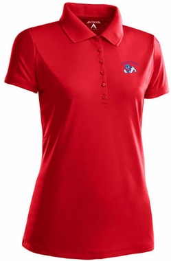 Fresno State Womens Pique Xtra Lite Polo Shirt (Color: Red)