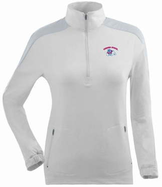 Fresno State Womens Succeed 1/4 Zip Performance Pullover (Color: White)