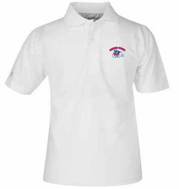 Fresno State YOUTH Unisex Pique Polo Shirt (Color: White)