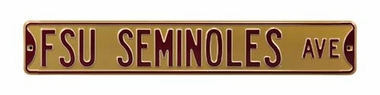 FSU Seminoles Ave Gold Street Sign