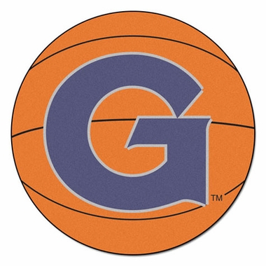Georgetown Basketball Shaped Rug