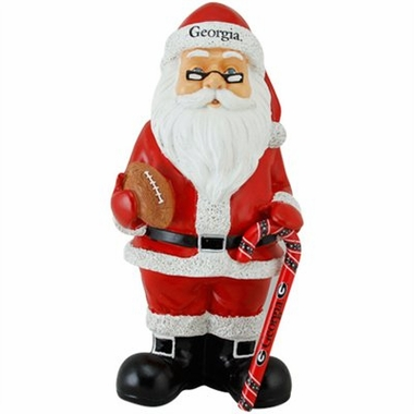Georgia 11 Inch Resin Team Santa Figurine