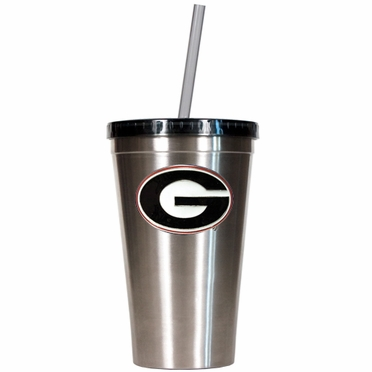Georgia 16oz Stainless Steel Insulated Tumbler with Straw