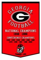 "Georgia 24""x36"" Dynasty Wool Banner"