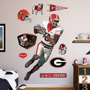 Georgia A.J. Green Fathead Wall Graphic