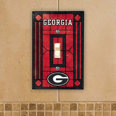 Georgia Art Glass Lightswitch Cover