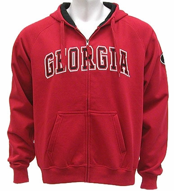 Georgia Automatic Full Zip Hooded Sweatshirt (Team Color)