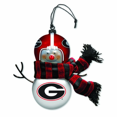 Georgia Blown Glass Snowman Ornament (Set of 2)