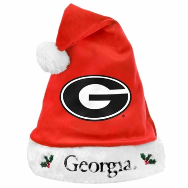Georgia Bulldogs 2012 Team Logo Plush Santa Hat