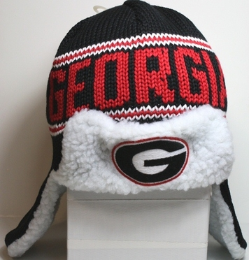 "Georgia Bulldogs 47 Brand ""Yeti"" Sherpa Black Knit Trooper Premium Hat"