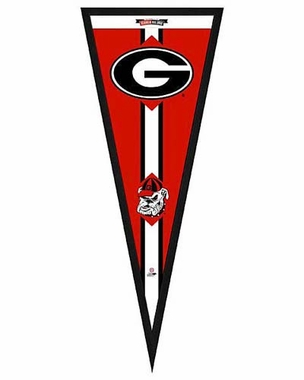 "Georgia Bulldogs Pennant Frame - 13""x33"" (No Glass)"