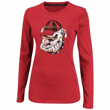 "Georgia Bulldogs Women's Majestic ""State Colors"" Long Sleeve Shirt"