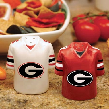 Georgia Ceramic Jersey Salt and Pepper Shakers