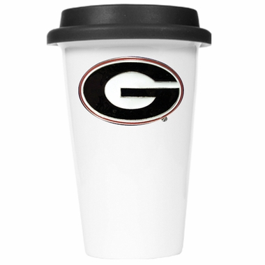 Georgia Ceramic Travel Cup (Black Lid)