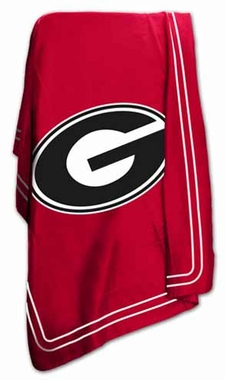 Georgia Classic Fleece Throw Blanket