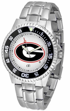Georgia Competitor Men's Steel Band Watch
