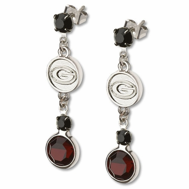 Georgia Crystal Logo Dangle Earrings