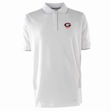Georgia Mens Elite Polo Shirt (Color: White)