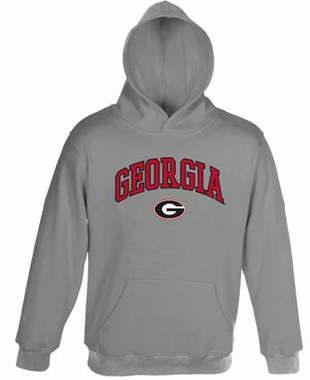 Georgia Embroidered Hooded Sweatshirt (Grey)