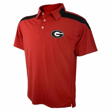 Georgia Embroidered Logo Polyester Polo Shirt