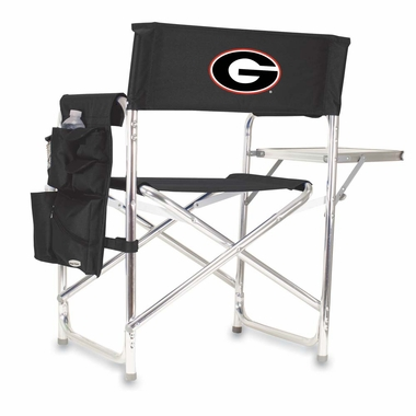 Georgia Embroidered Sports Chair (Black)
