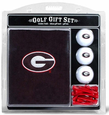Georgia Embroidered Towel Golf Gift Set