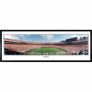 Georgia End Zone Framed Panoramic Print