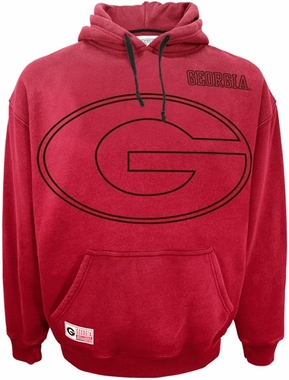 Georgia Faded Glory Sandblasted Hooded Sweatshirt