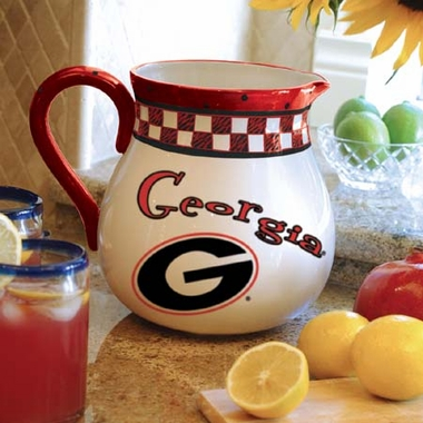 Georgia Gameday Ceramic Pitcher