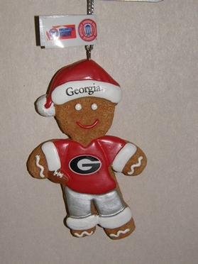 Georgia Gingerbread Man Christmas Ornament