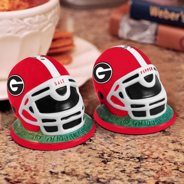 Georgia Helmet Ceramic Salt and Pepper Shakers