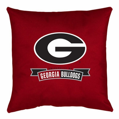 Georgia Jersey Material Toss Pillow