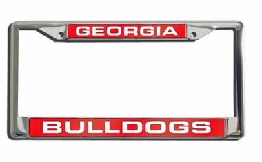 Georgia Laser Etched Chrome License Plate Frame