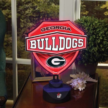 Georgia Neon Shield Table Lamp