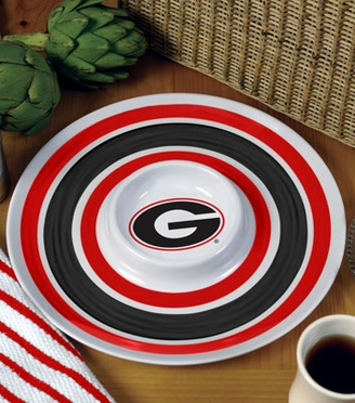 Georgia Plastic Chip and Dip Plate