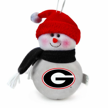Georgia Plush Snowman Ornament (Set of 3)