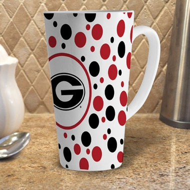 Georgia Polkadot 16 oz. Ceramic Latte Mug