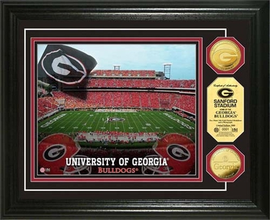 Georgia Bulldogs University of Georgia Stadium Gold Coin Photo Mint