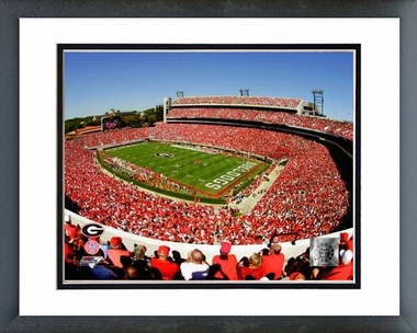 Georgia Sanford Stadium, Univserity of Georgia Bulldogs; 2007 16x20 Framed and Double-Matted Photo