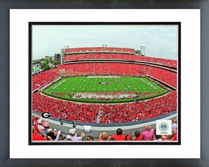 Georgia Sanford Stadium Univserity of Georgia Bulldogs 2012 16x20 Framed and Double-Matted Photo